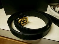 Gucci Leather belt with  G buckle 20mm black Merchantville, 08109