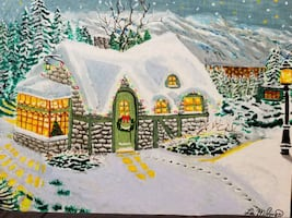 Painting: House in the Snowstorm. I have 3 types