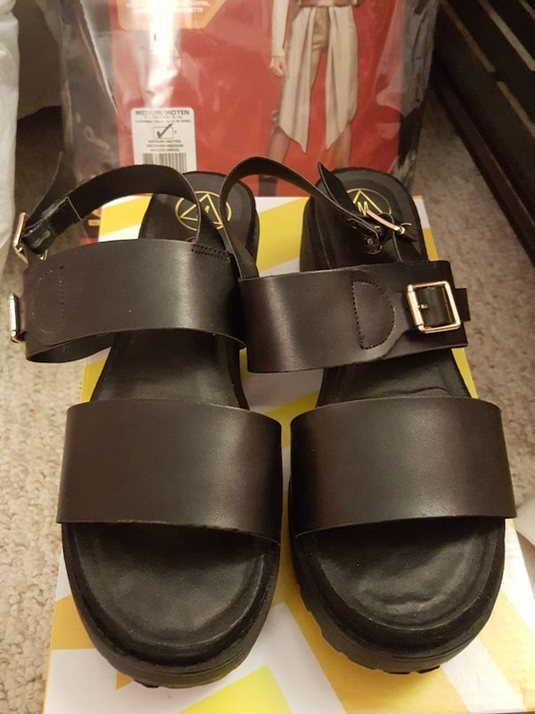 11f01f919699 Used pair of black leather sandals for sale in Falls Church - letgo