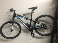 black and blue hardtail mountain bike Johnson City