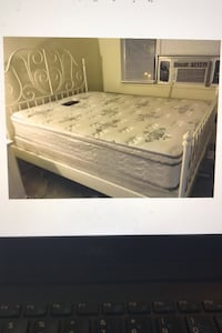 Deliver Queen White Metal IKEA Frame Bed