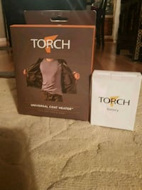Torch universal coat heater with battery brand new