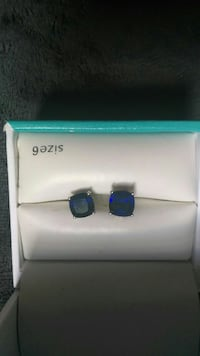 Sterling silver and saphire stud earrings Kyle, 78640
