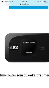 svart Tele2 mini router skärmdump