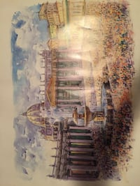 Watercolor painting of the Vatican in Rome Herndon, 20171