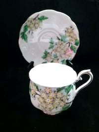 ROYAL ALBERT Bone China Cup & Saucer Flower of the Month Hawthorn No 5
