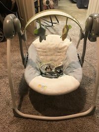 baby's white and gray swing chair Falls Church, 22042