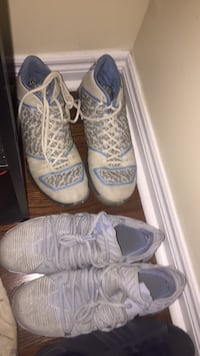 pair of white-and-blue shoes 1167 km