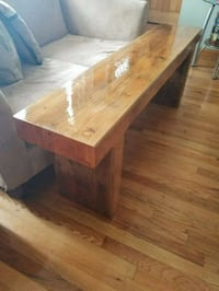 Solid heavy wood handmade bench (60x22x12) Chicago, 60652
