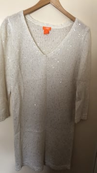 White sequin sweater dress Toronto, M1C 2G2