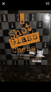 Shot glass chess never used took out to make sure nothing was cracked.  Arlington Heights, 60004