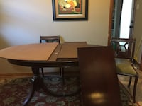 brown wooden dining table set 885 mi