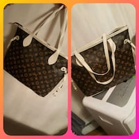 black and gray Louis Vuitton Monogram leather tote bag collage Laval, H7W