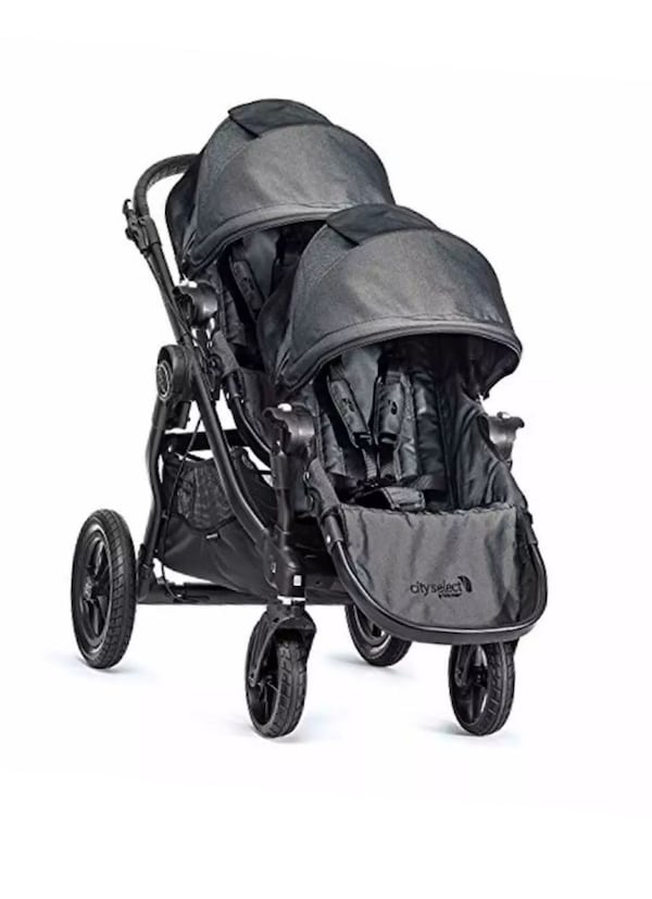 Baby Jogger City Select Deluxe Double Stroller -Charcoal 58790b7c-b588-498b-8327-bc7290c05a6c