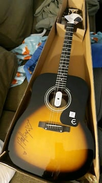 Acoustic guitar signed by Halsey
