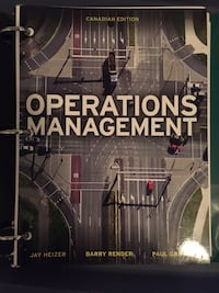 Text book operations management