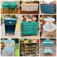 Refinished furniture, fun vintage & retro home decor, bargain basement Kensington, 20895
