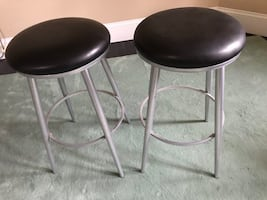 Heavy weight, leather topped barstools