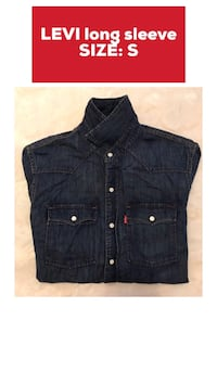 blue denim button-up shirt Pickering, L1V 1N9