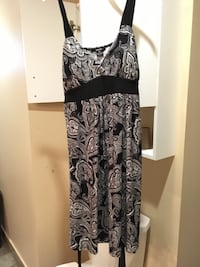 black and gray floral spaghetti strap dress Laval, H7W