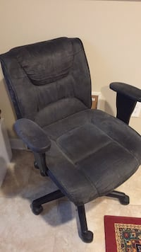 Grey suede reclining computer chair
