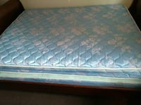 quilted blue and white floral mattress