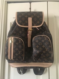 black and brown Louis Vuitton leather backpack Grass Valley, 95949