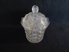 Antique glass canister/candy jar