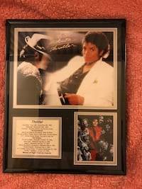 Michael Jackson framed thriller collectible picture