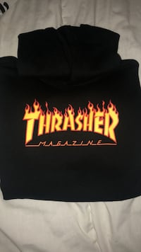Black and red thrasher pullover hoodie Delta, V4C 2M3