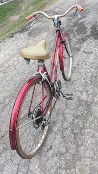Red and black city bike Auburn, 46706