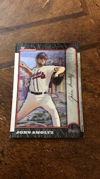 John Smoltz sign baseball card Fairfax, 22030