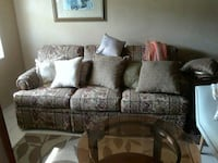 gray and black floral 3-seat sofa Saint Petersburg, 33712