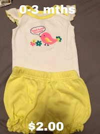 toddler's yellow and white onesie