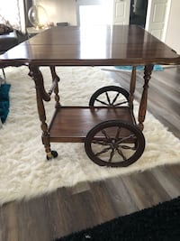 Antique tea cart. It's a beautiful piece in mint condition. Original stain and parts. Calgary, T3K 2X3