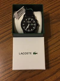 Lacoste Men's 12.12-TECH' Quartz Plastic and Rubber Smart Watch, 2010881 Black Virginia Beach, 23462