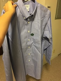 Gray and white pinstripe button-up shirt Boston, 02131