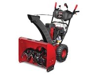 Red and black snow blower 588 mi
