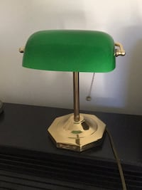 green and white table lamp East Islip, 11730