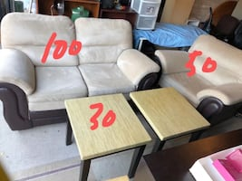 Two sofas and a table