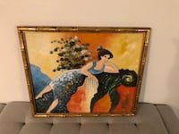 brown wooden framed painting of woman Lake Worth, 33460