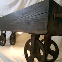 Wood beam table old rustic pulleys  New Holland, 17557