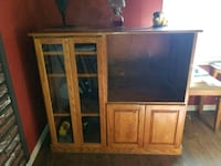 brown wooden TV hutch with cabinet Redmond, 97756