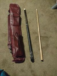 2 piece pool cue and nice case Prince George, V2L 1H5