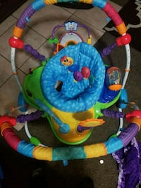 baby's blue, green, and red jumperoo San Bernardino, 92405
