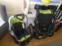 green and black travel system
