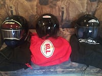 three black motorcycle helmets Châteauguay, J6J 2T5