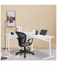 Brand new Office Desk L Shape Corner Computer PC Table Workstation 3-Piece for Home,White with White Glass Las Vegas, 89178