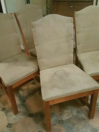 two brown wooden framed white padded armchairs Lake City, 32024