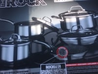 black and gray steel cookware set box Scugog